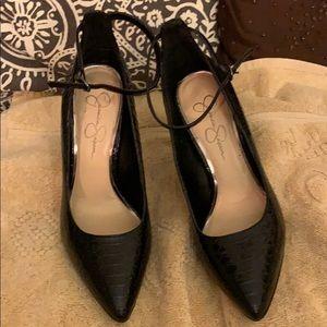 Jessica Simpson black patent heels